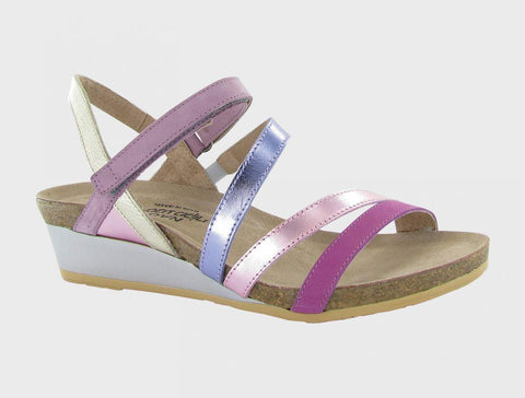 Naot Hero Low Wedge Sandal - Iridescent Multicolor