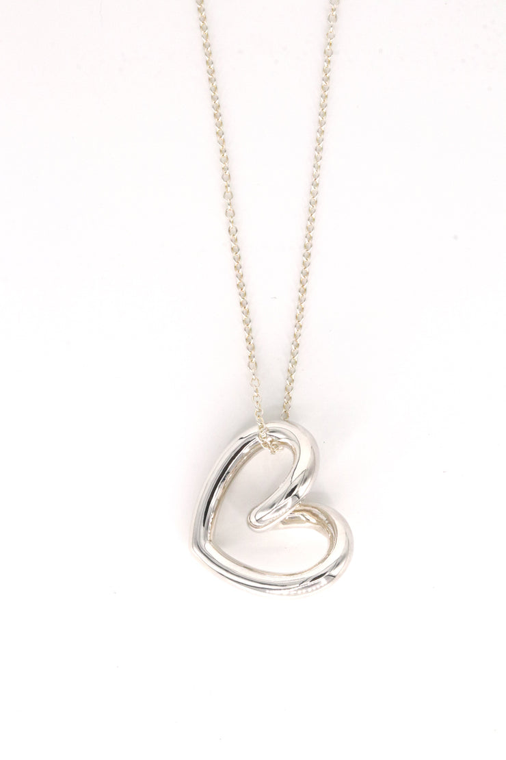 Simon Sebbag Designs - Sterling Silver Long Chain Twisted Heart Necklace