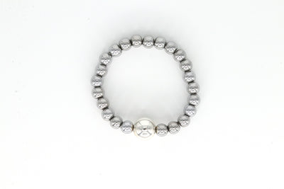 Simon Sebbag Designs - Hematite Stretch Bracelet With Sterling Silver Bead