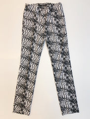 Insight New York Animal Print Straight Leg Pant - White/Black
