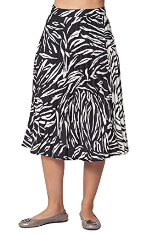 Isle by Melis Kozan Print Pleated Midi Skirt - Black/White