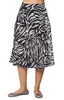 Image of Isle by Melis Kozan Print Pleated Midi Skirt - Black/White