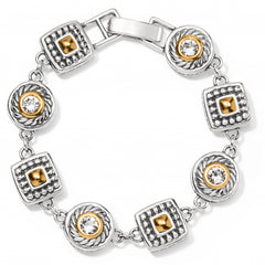 Brighton Heiress Crystal Link Bracelet - Silver/Gold