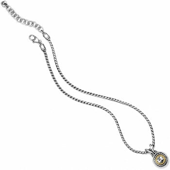 Brighton Heiress Crystal Necklace - Silver/Gold