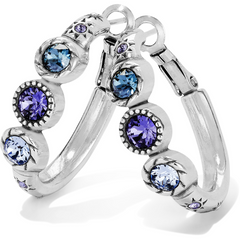 Brighton Collectibles Halo Hoop Earring - Silver-Tanzanite