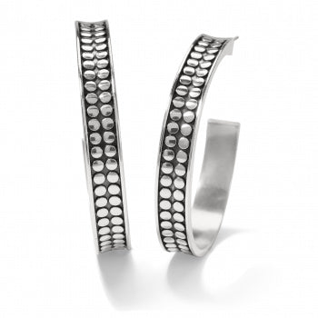 Brighton Pebble Dot Medium Hoops - Silver