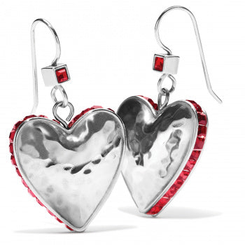 Brighton Spectrum Love French Wire Earring - Silver/Red