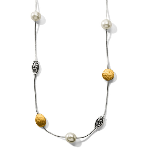 Brighton Collectibles Long Pearl Necklace - Two Tone/Pearl