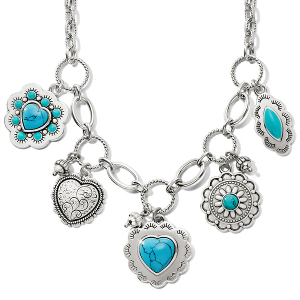 Brighton Collectibles Dream Spirit Charm Necklace - Silver/Turquoise