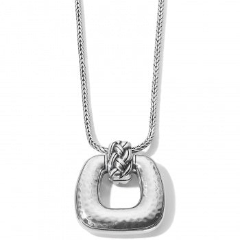 Brighton Interlok Woven Necklace - Silver