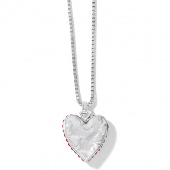 Brighton Spectrum Love Necklace - Silver/Red