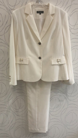 John Meyer Collection Two-Piece Classic Pant Suit - Ivory