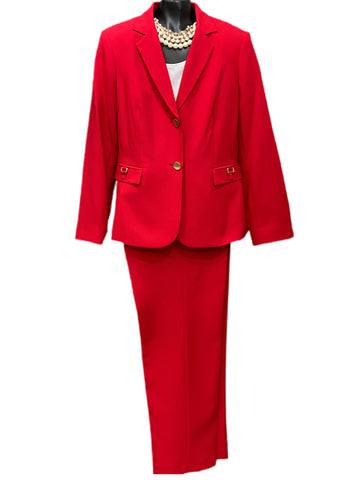 John Meyer Collection Two Piece Pant Suit - Red