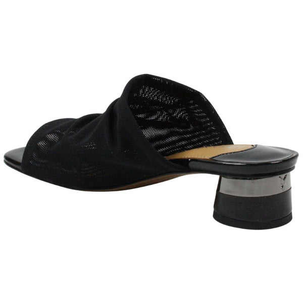 J. Reneé Banan Low Heel Slide Sandal - Black Stretch