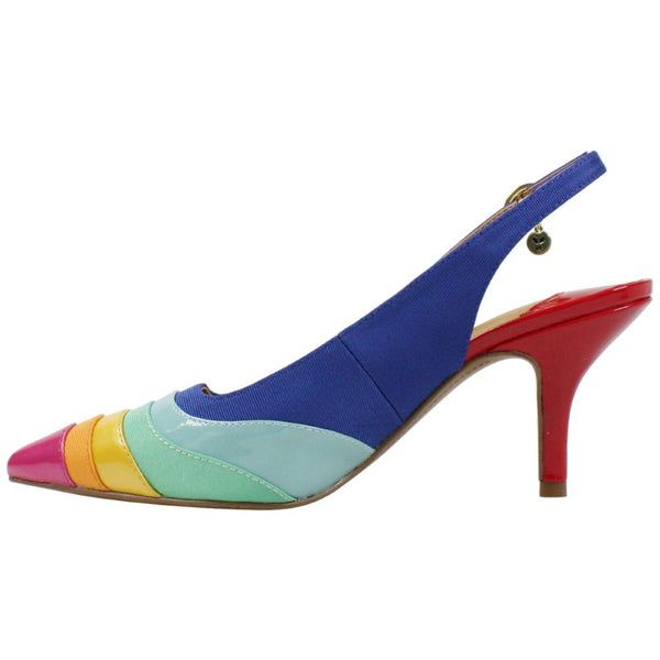 J. Reneé Harra Mixed Media Slingback - Bright Multicolor