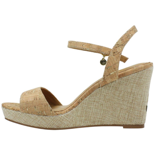 J. Reneé Triella Ankle Strap Wedge Sandal - Natural Cork