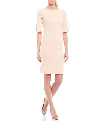 Karl Lagerfeld Paris Tie Sleeve Sheath Dress - Sherbet