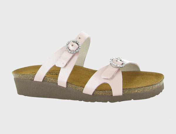 Naot Kate Jewel Buckle Sandal - Pearl Rose Leather