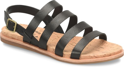 Kork-Ease Bethany Leather Sandal - Black