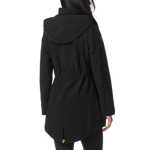 Kensie Soft Shell Anorak Coat - Black - Sugg. $199.00