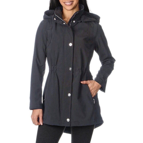 Kensie Soft Shell Anorak Coat - Charcoal - Sugg. $199.00