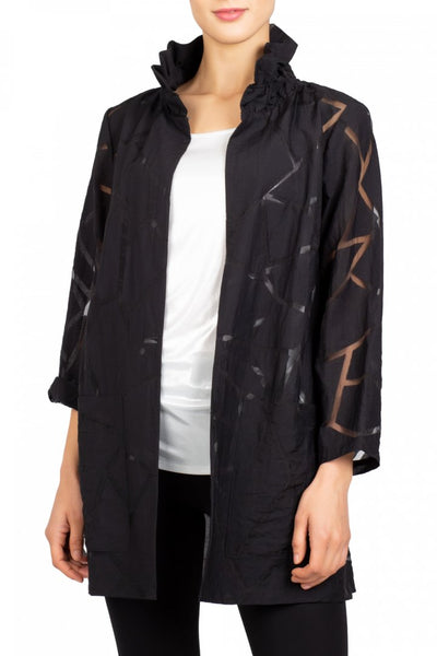 Berek Octagon Burnout Jacket - Black
