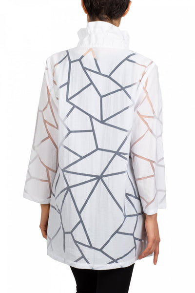 Berek Octagon Burnout Jacket - White