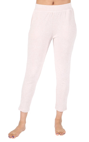 La Cera Capri Knit Pull-On Pant - Pink