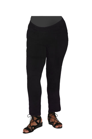 La Cera Plus Knit Pull On Pant - Black