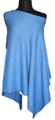 La Fiorentina Embellished Poncho - Light Blue