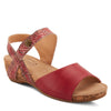 Image of L'Artiste Ceylan Ankle Strap Wedge Sandal - Red
