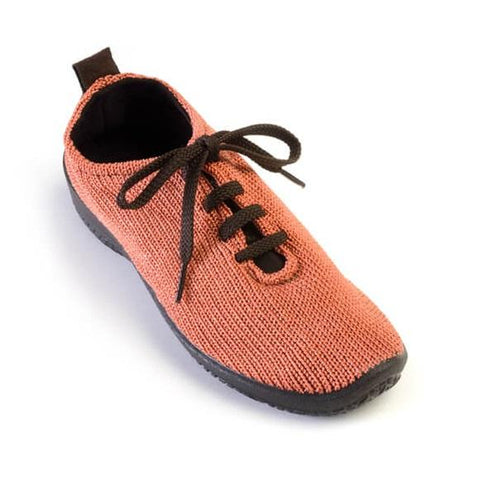 Arcopedico Lace Up Knit Shoe - Brick