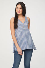 BeachLunchLounge Hayden Sleeveless Button Top - Lakeshore