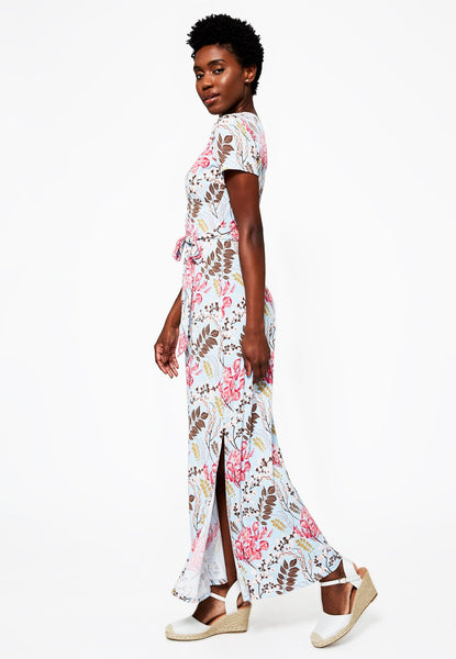 Leota Perfect Wrap Short Sleeve Maxi Dress - Charming Floral *Take 25% Off*