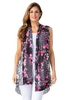 Image of Multiples Sheer Drapey Vest - Black/Pink Multi