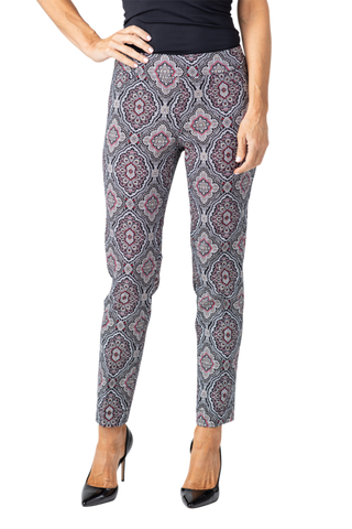 Slimsations by Multiples Medallion Print Ankle Pant - Print