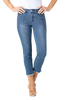 Image of Slimsations by Multiples Embellished Crop Jean - Indigo