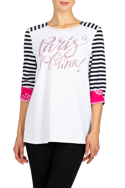 Berek Paris Tee - White/Pink