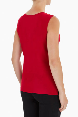 Ming Wang Scoop Neck Knit Tank - Firecracker