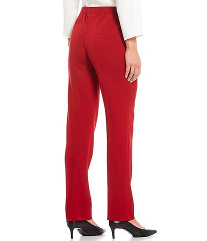 Ming Wang Straight Leg Knit Pant - Firecracker