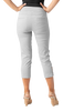 Image of Slimsations by Multiples Crop Pant with Lattice Ankle Detail - Frost Grey