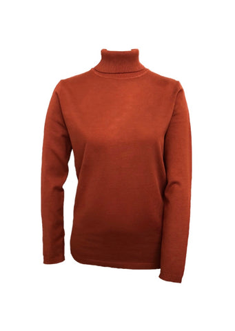 Metric Knits Turtleneck Sweater - Terracotta