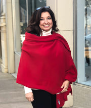 Pure Cashmere Wrap - Red