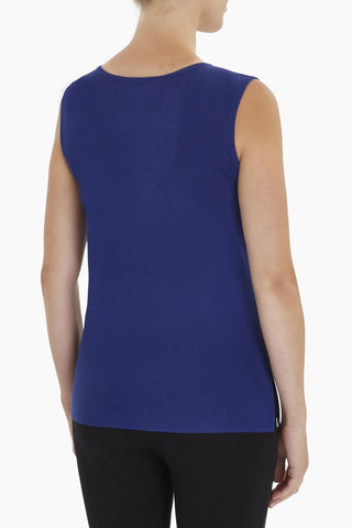 Ming Wang Scoop Neck Tank - Majestic Blue