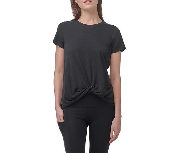 Marc New York Performance Short Sleeve Twist Front Tee - Black