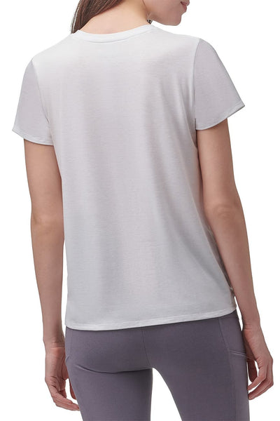Marc New York Performance Short Sleeve Twist Front Tee - White