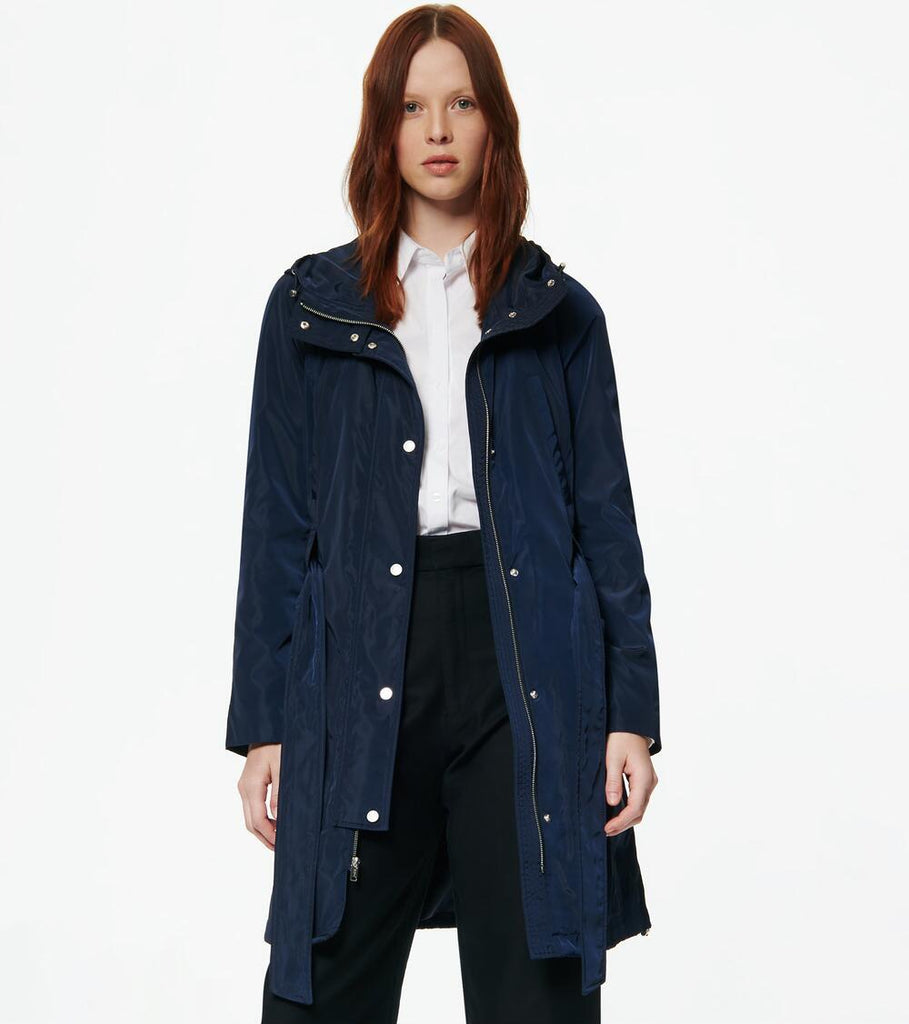 Marc New York Cove Belted Rain Jacket - Navy - Sugg. $160.00