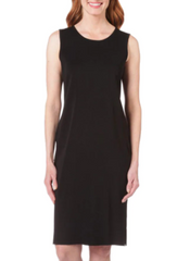 Ming Wang Crew Neck Knit Tank Dress - Black