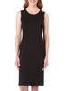 Image of Ming Wang Crew Neck Knit Tank Dress - Black