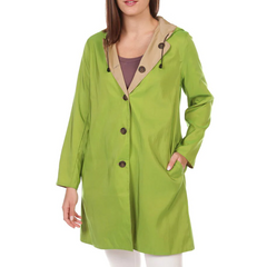 Mycra Pac Hooded Reversible Rain Jacket - Mojito Green/Tan